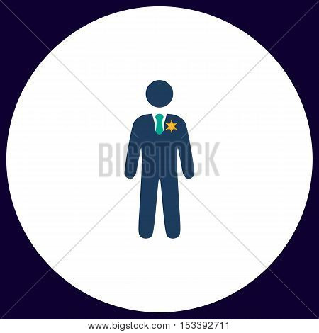 ranger Simple vector button. Illustration symbol. Color flat icon