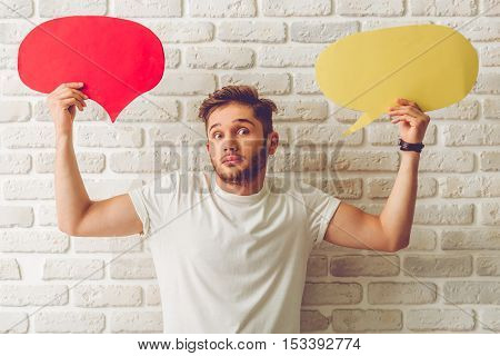 Guy With Speech Bubble