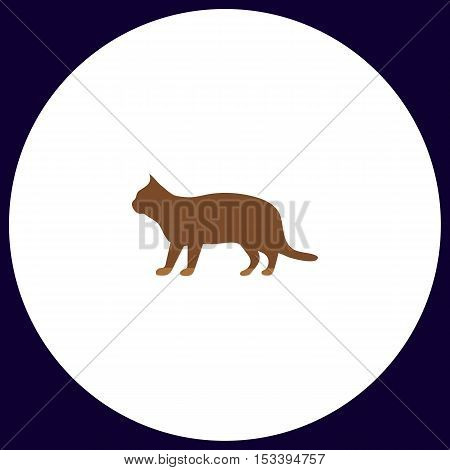 pussycat Simple vector button. Illustration symbol. Color flat icon