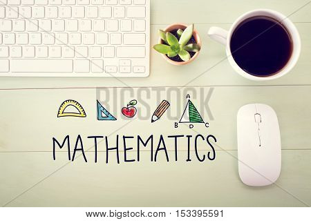 Mathematics Concept With Workstation