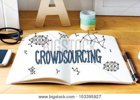 Crowdsourcing Concept With Notebook