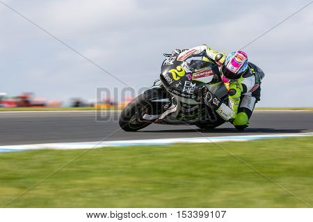MELBOURNE AUSTRALIA – OCTOBER 23:Lukey Heights during the 2016 Michelin Australian Motorcycle Grand Prix at 2106 Michelin Australian Motorcycle Grand Prix Australia on October 23 2016.