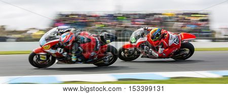 MELBOURNE AUSTRALIA – OCTOBER 23:Lukey Heights Lukey Heights during the 2016 Michelin Australian Motorcycle Grand Prix at 2106 Michelin Australian Motorcycle Grand Prix Australia on October 23 2016.