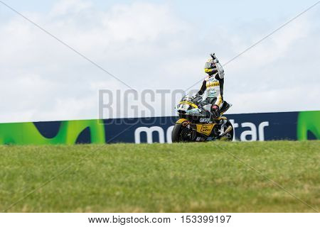 MELBOURNE AUSTRALIA – OCTOBER 23: Lukey Heights during the 2016 Michelin Australian Motorcycle Grand Prix at 2106 Michelin Australian Motorcycle Grand Prix Australia on October 23 2016.