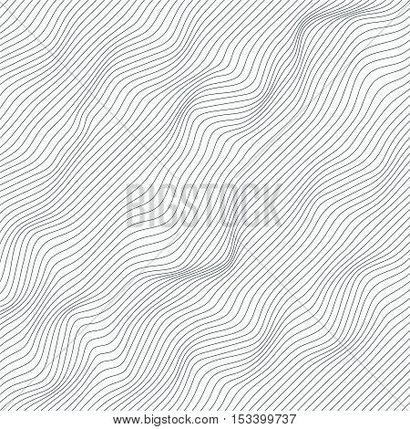 Random Lines Abstract Monochrome Geometric Texture / Pattern