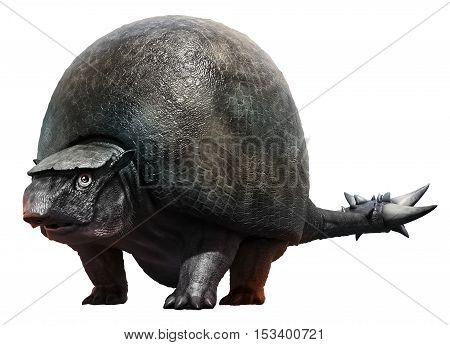 Doedicurus from the Pleistocene era 3D illustration