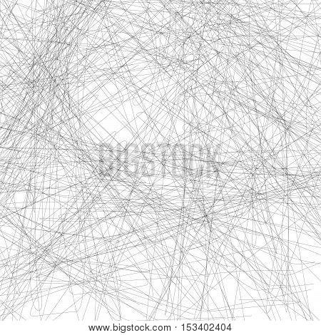 Random Lines Abstract Monochrome Geometric Texture / Pattern