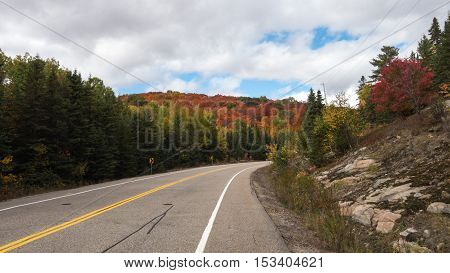 Algonquin Park on a colorful, fall day