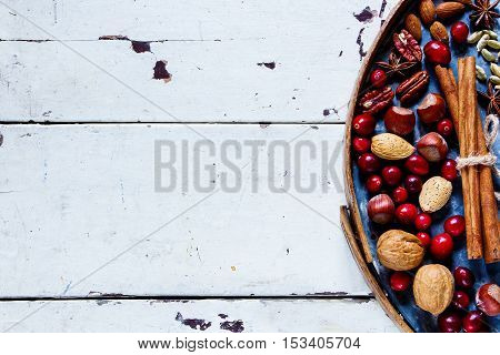 Nuts, Cranberries And Spices