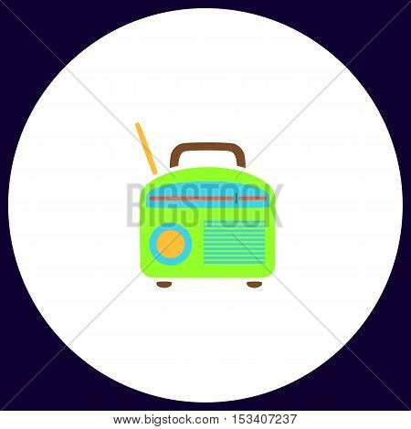 Radio Simple vector button. Illustration symbol. Color flat icon