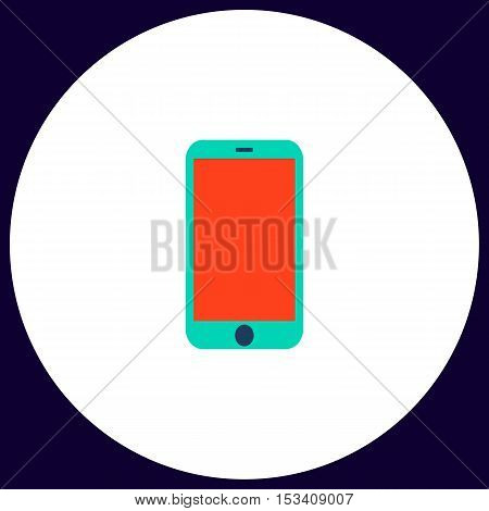 mini tablet Simple vector button. Illustration symbol. Color flat icon