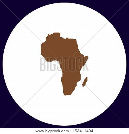 Africa Simple vector button. Illustration symbol. Color flat icon
