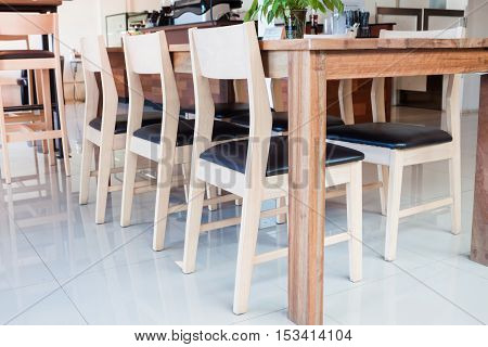 Abstract coffee shop interior for background, stock photo