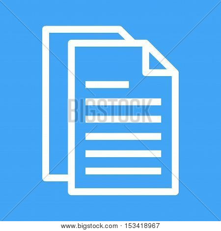 Document, content, article icon vector image. Can also be used for software development. Suitable for mobile apps, web apps and print media.