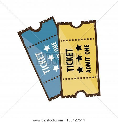 tickets admit one icon image vector illustration design