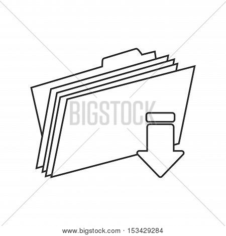 Download arrow and file icon. Digital web application and technology theme. Isolated design. Vector illustration