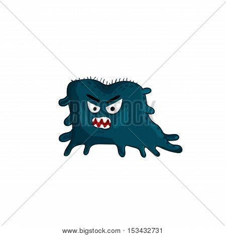 Cartoon viruses character vector illustration. Cute fly germ viruses infection vector. Funny micro bacteria character. Infection icon. Viruses icon. Funny isolated virus characters. Monster virus. Isolated bacteria. Cartoon infection and bacteria symbol