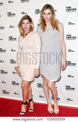 NEW YORK-APR 2: Trace Lysette (L) and Andreja Pejic attend the 2015 Center Dinner at Cipriani Wall Street on April 2, 2015 in New York City.