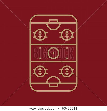 Ice Hockey Rink icon. Game symbol. Flat Vector illustration