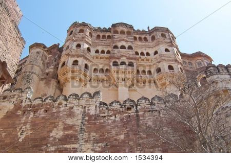 Fortress View From Below, Jodhpur, India