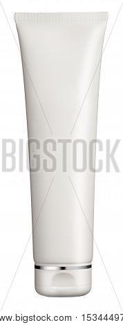 Plain White Plastic Cosmetics Tube