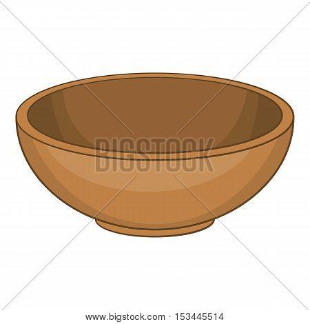 Big bowl icon. Cartoon illustration of big bowl vector icon for web