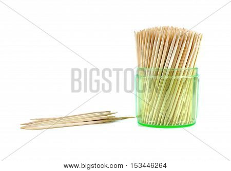 Toothpicks Isolated On White.
