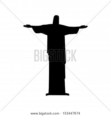 christ the redeemer or corcovado icon image vector illustration design