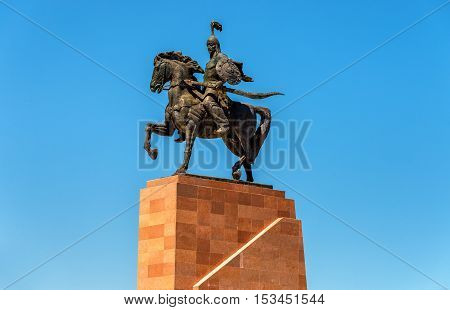 Monument Epic of Manas on Ala-Too Square in Bishkek - Kyrgyzstan