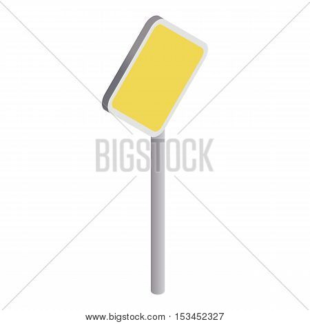 Road sign yellow rhombus icon. Isometric 3d illustration of road sign yellow rhombus vector icon for web