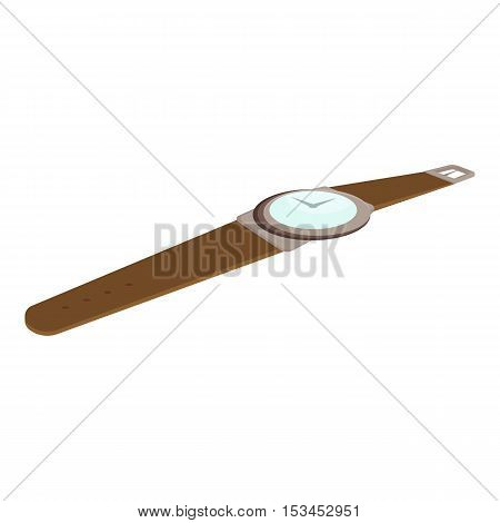 Wrist watch icon. Cartoon illustration of wrist watch vector icon for web