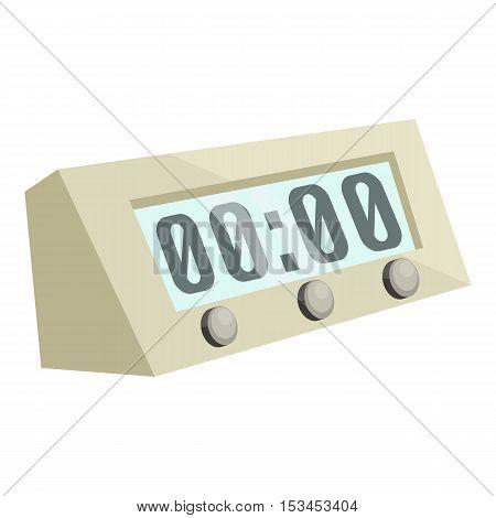 Electronic alarm clock icon. Cartoon illustration of electronic alarm clock vector icon for web