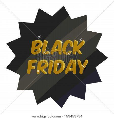 Tag black friday icon. Cartoon illustration of tag black friday vector icon for web