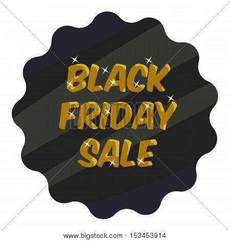 Tag black friday sale icon. Cartoon illustration of tag black friday sale vector icon for web
