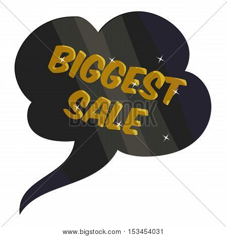 Tag biggest sale icon. Cartoon illustration of tag biggest sale vector icon for web