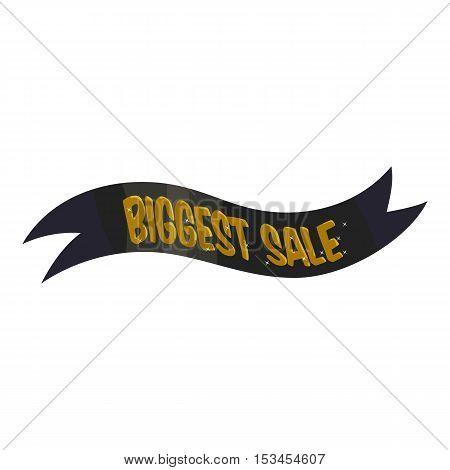 Ribbon biggest sale icon. Cartoon illustration of ribbon biggest sale vector icon for web