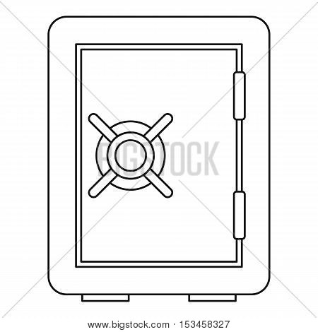 Safety deposit box icon. Outline illustration of safety deposit box vector icon for web