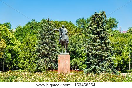 Statue of Mikhail Frunze in Bishkek - Kyrgyzstan