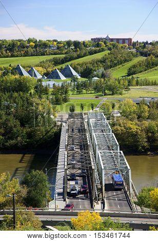 Edmonton, Canada - September 13, 2016: Bridge On The River On 13