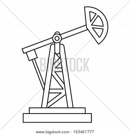 Oil rig icon. Outline illustration of oil rig vector icon for web