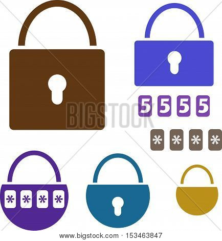 Lock icon. Isolated padlock illustration. Drop shadow locked icon. Security device icon. Lock logo concept. Vector padlock. Padlock icon. Isolated locked illustration