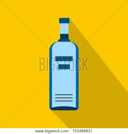 Bottle of vodka icon. Flat illustration of bottle of vodka vector icon for web