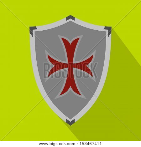 Protective shield icon. Flat illustration of protective shield icon for web