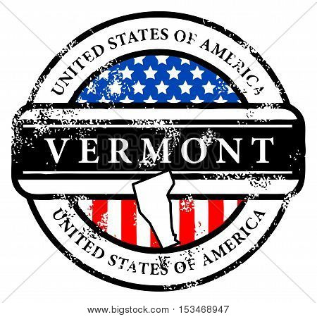 Grunge rubber stamp with name of Vermont, vector illustration