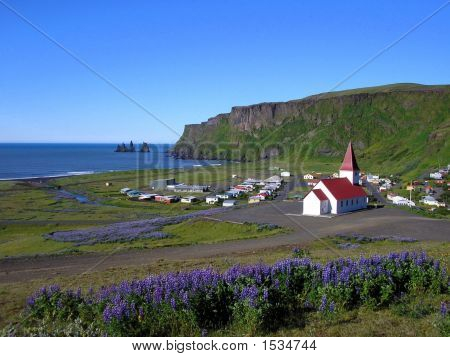 Vik, The Village And Its Trolls, South Coast Of Iceland