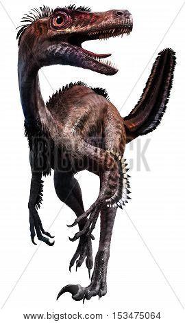 Velociraptor from the Cretaceous era 3D illustration