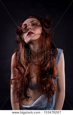 Portrait Of A Red Hair Model