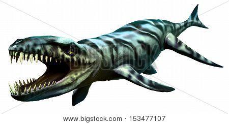 Dakosaurus from the cretaceous and  Jurassic eras 3D illustration