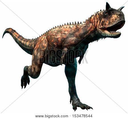 Carnotaurus dinosaur from the cretaceous era 3D illustration