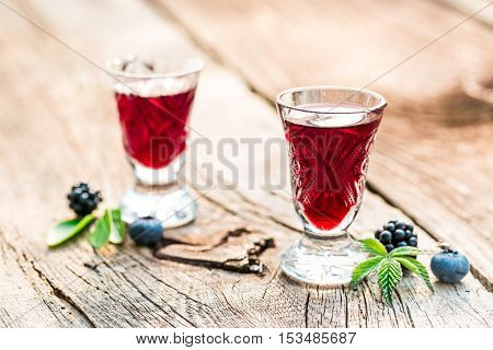 Liquor Made Of Berry Fruits And Alcohol